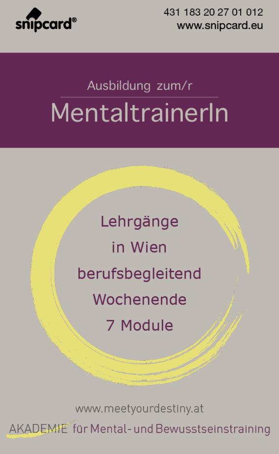 snipcard Tipp AAkademie für Mental- und Bewusstseinstraining