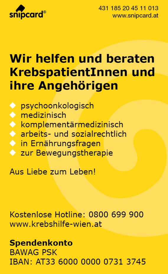 snipcard Krebshilfe Wien RS
