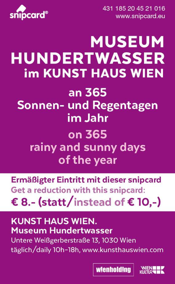 snipcard Kunst Haus Wien Rückseite
