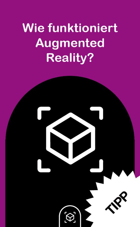 snipcard AR Funktion Vorderseite, Bild: Symbol für Augmented Reality