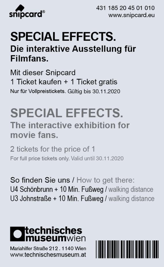 Ausstellung in Wien Special Effects