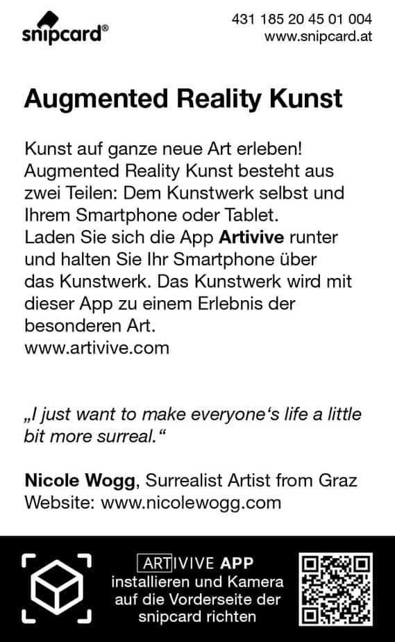 AR ART snipcard RS Künstlerin Nicole Wogg