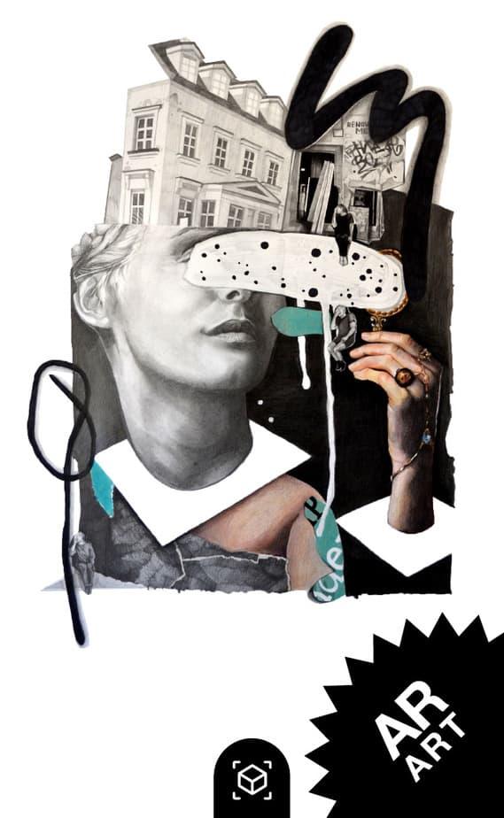 AR ART snipcard von der Künstlerin Nicole Wogg