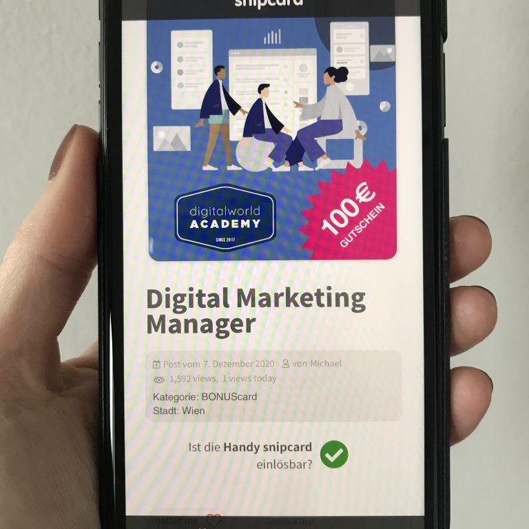 Foto Abbildung einer Handy snipcard