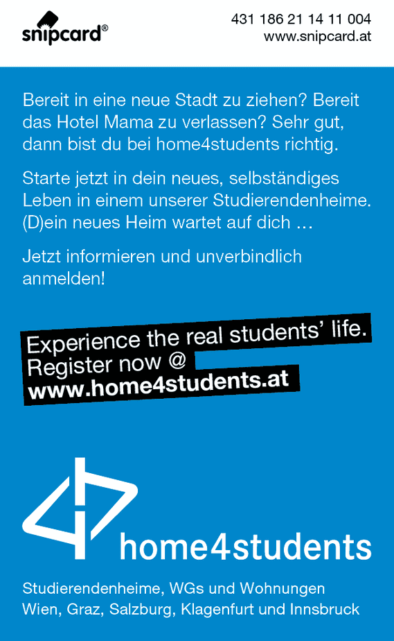 snipcard home4students Rückseite