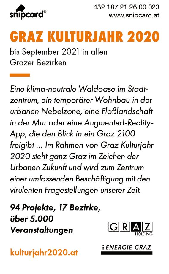 snipcard Graz Kulturjahr 2020