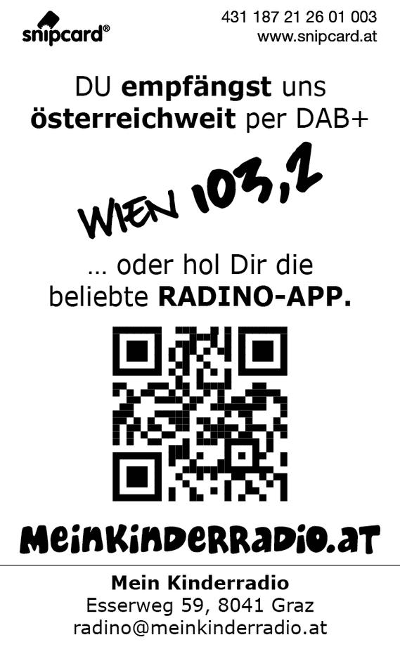 snipcard Kinderradio Rückseite