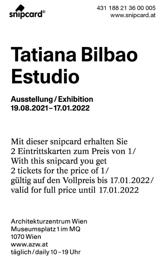 snipcard RS Architekturzentrum Wien, Ausstellung Tatiana Bilbao