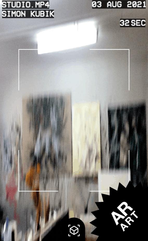 AR ART snipcard - der Künstler Simon Kubik gibt Einblick in sein Atelier