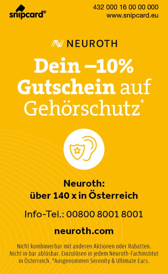Rückseite snipcard Neuroth Angebot -10%