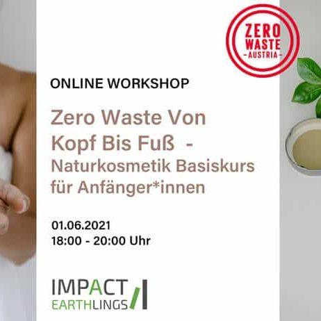 Info zu Online Workshop von Zero Waste Austria - Naturkosmetik Basiskurs