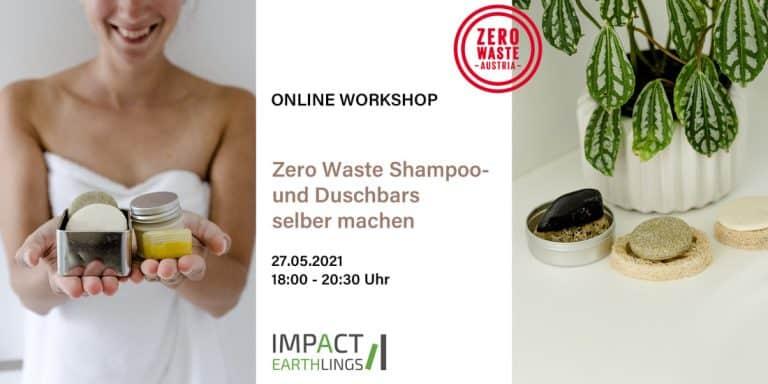 Info zu Online Workshop von Zero Waste Austria - Shampoo und Duschbars selber machen